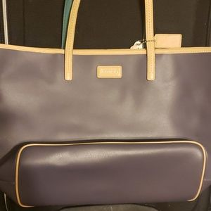 Coach park metro leather tote